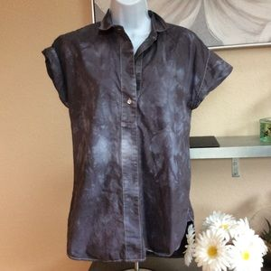 J. Crew top blouse size 6t short sleeve gray